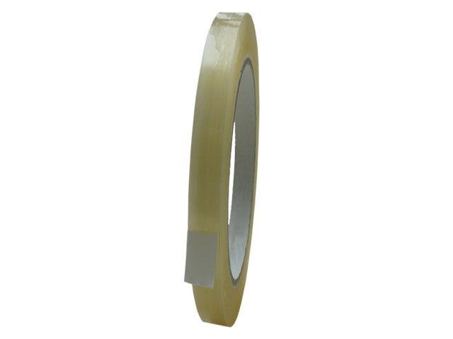 PVC-Packband, transparent - 9mmx66m - 33 my Folienstärke + Naturkautschukklebstoff - Pack-Film 866