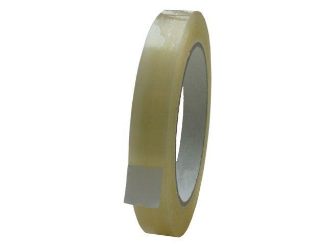 PVC-Packband, transparent - 15mmx66m - 33 my Folienstärke + Naturkautschukklebstoff - Pack-Film 866