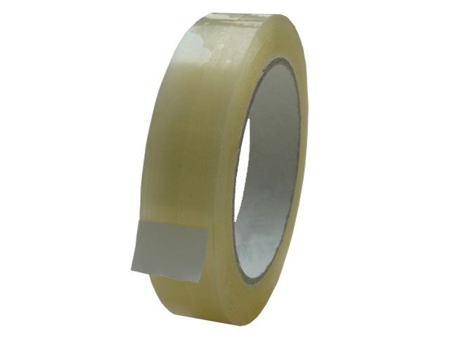 PP-Packband, transparent - 25mmx66m - 28 my Folienstärke + Acrylatklebstoff - Pack-Film 851