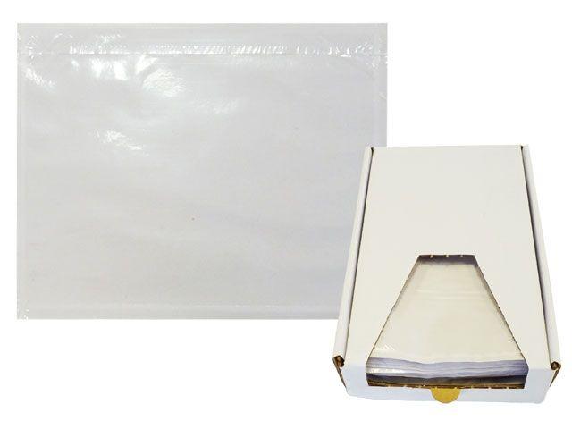 Dokumententaschen, transparent - DIN C6 - 175x130 mm - Spendekarton 250 Stück