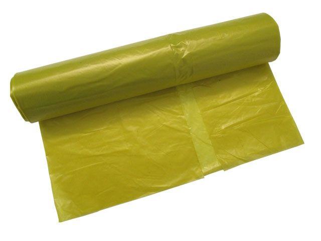 Abfallbeutel aus LDPE, gelb - 120 Liter - Typ 60 extra (35my) - 700x1100 mm