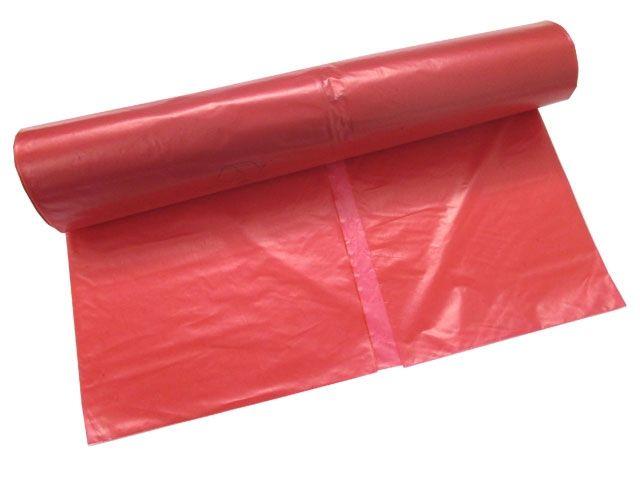 Abfallbeutel aus LDPE, rot - 120 Liter - Typ 60 extra (35my) - 700x1100 mm