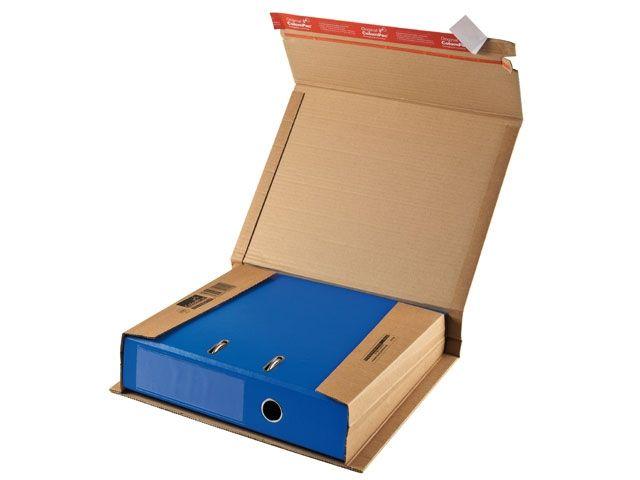 Ordner-Versandverpackungen aus Wellpappe, braun - 320x290x35-80mm - mit Klebeverschluss - TYP ColomPac CP 050.01