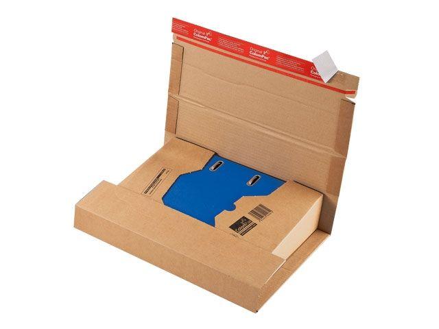 Ordner-Versandverpackungen aus Wellpappe, braun - 320x290x35-80mm - mit doppeltem Klebeverschluss - TYP ColomPac CP 055.01