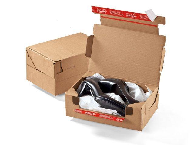 Rücksendebox (Return Box ColomPac CP 069.02) - 282x191x90 mm - mit Klebeverschluss