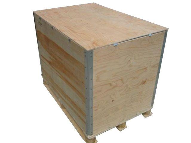 Sperrholz-Container, faltbar - 1180x980x780 mm - 898 Liter - Modell No Lasch - 4-fach unterfahrbar