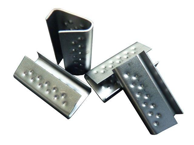 Verschlusshülsen für Umreifungsbänder aus PP - 16x28x0,5 mm